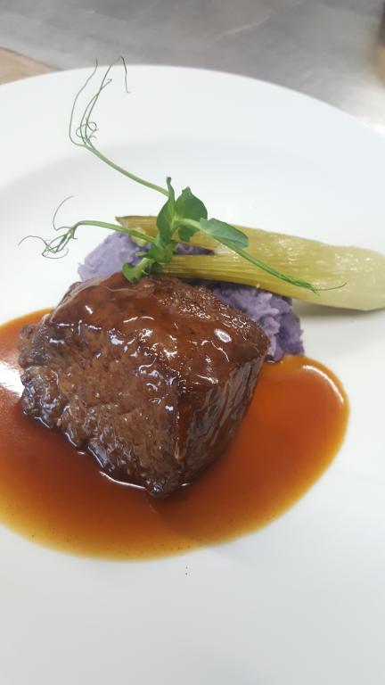 Contre filet, écrasé de bleu d'Artois et mini fenouil