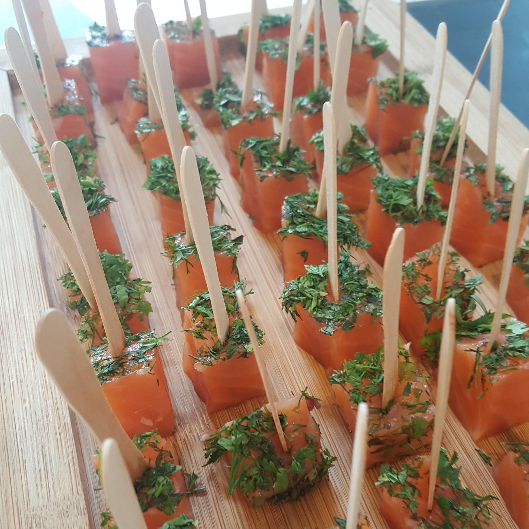 Cubique de saumon