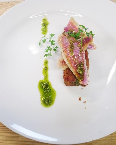 sablé breton parmesan et rouget