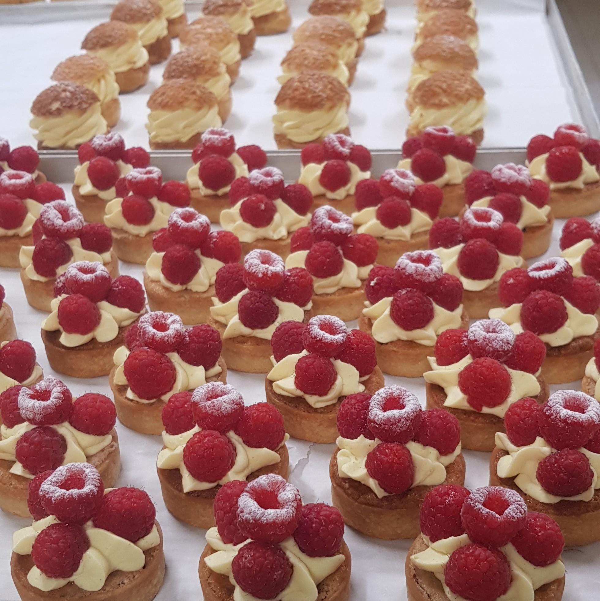 Tartelettes amandines aux framboises